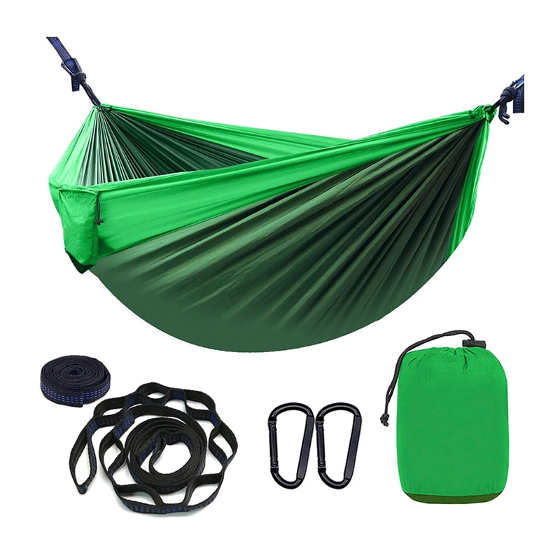 Ultraleve portátil parachute hammock acampamento náilon hammock tenda ao ar livre jardim dormir pendurado cama rede tenda abrigos acampamento