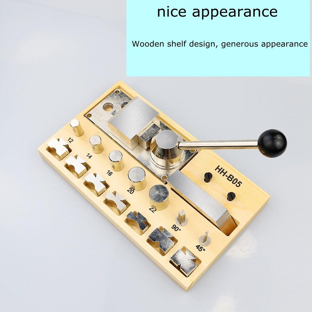 Stainless Steel Wire Ring Press Brake Press Brake Manual Bender Gold Silver Copper Bar Roll Round Press Round Shaper
