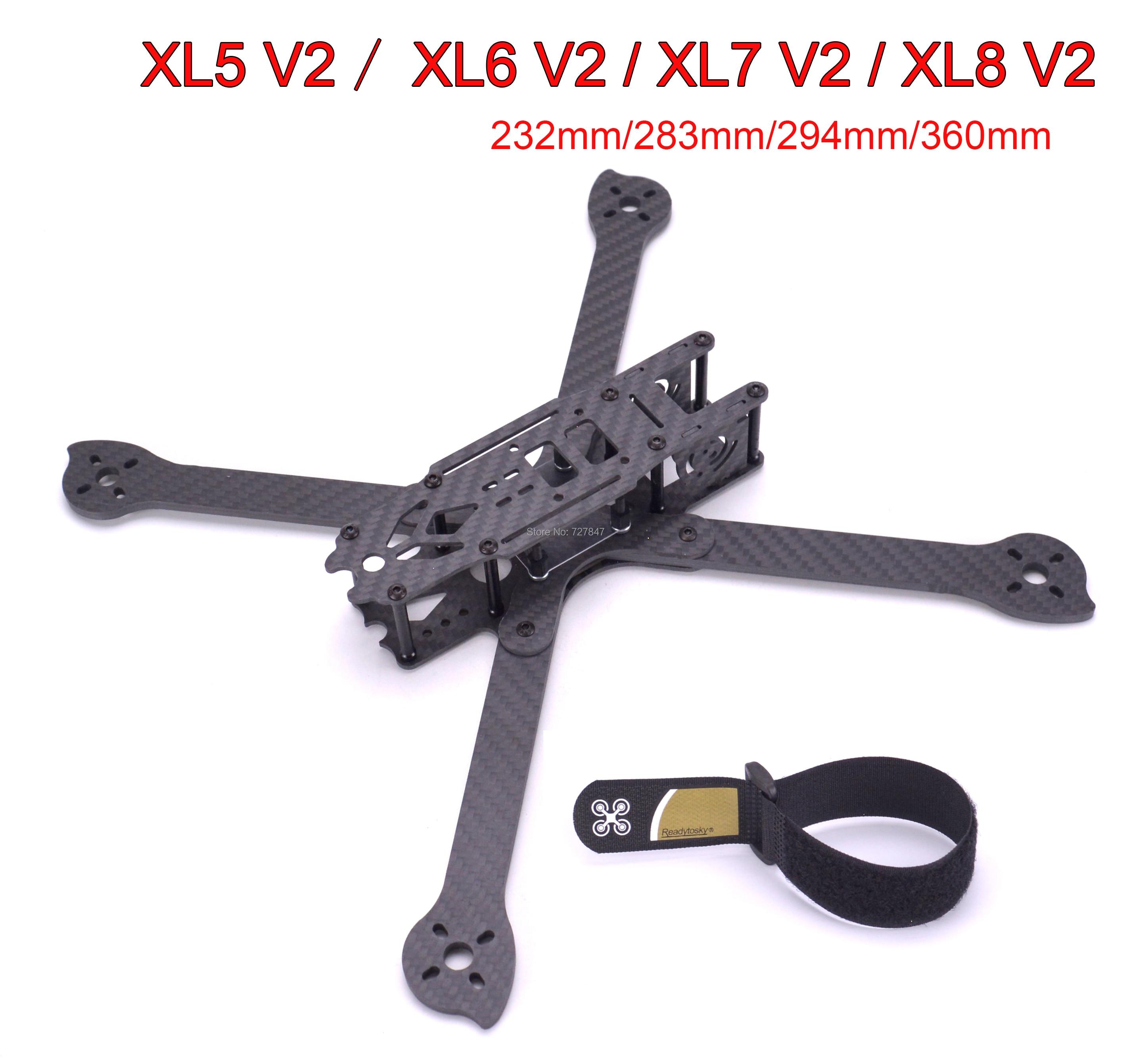 3K Full Carbon Fiber TrueX XL5 V2 232mm/ XL6 V2 283mm / XL7 V2 294mm / XL8 V2 360mm/XL9 V2 390mm Arm 4mm Freestyle Frame for FPV