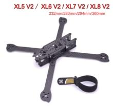 3K pleine Fiber de carbone TrueX XL5 V2 232mm/ XL6 V2 283mm / XL7 V2 294mm / XL8 V2 360mm/XL9 V2 390mm bras 4mm cadre Freestyle pour FPV