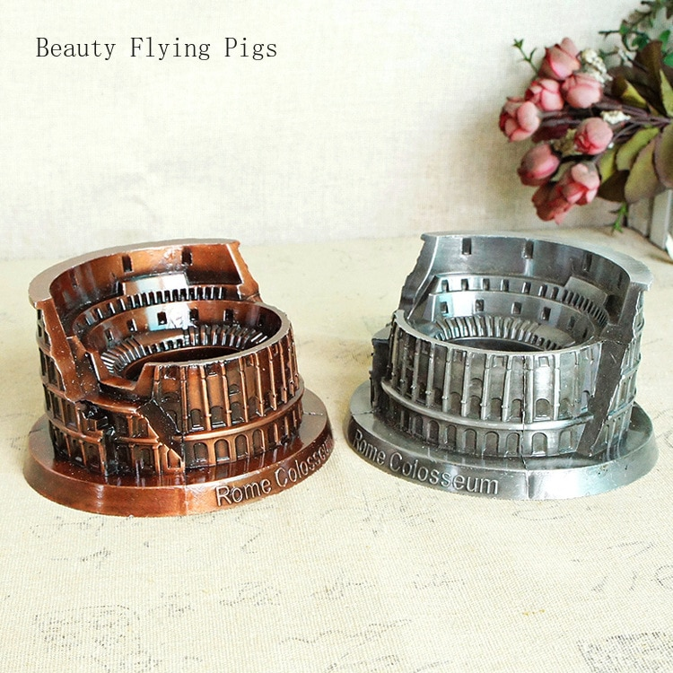 Venta Directa nuevo clásico aleación Roma Colosseum modelo metal artesanías regalos hobby colección decoración monumento Colosseum