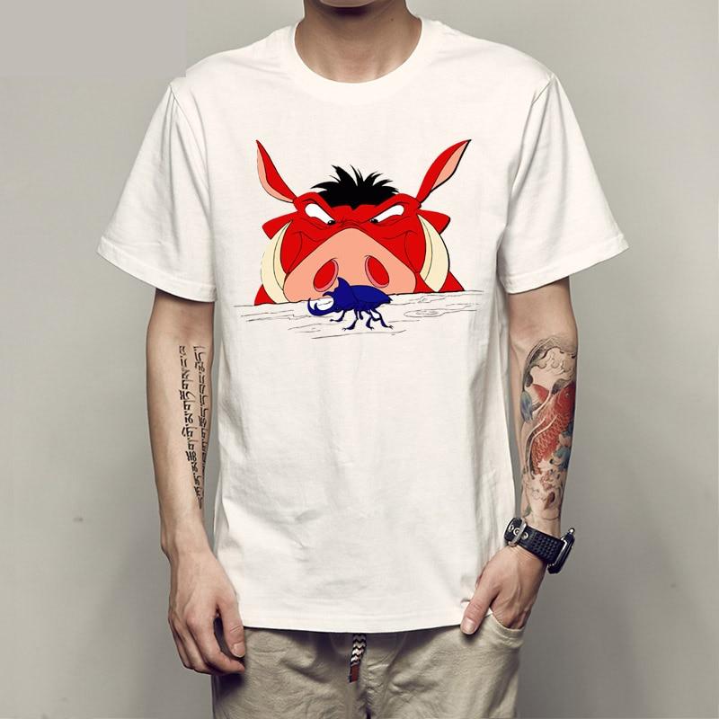REM размер футболка pumba свинка Мужская Свободный стиль скейтборд 3xl бренд хип-хоп модная футболка Мужская рок футболка