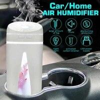 Humidificateur Portable de 350ml pour voiture et maison  purificateur dair avec diffuseur dhuiles essentielles et darome a lumiere romantique