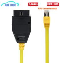 Enet Data Kabel Voor Bmw Ethernet Naar OBD2 16Pin Interface RJ45 Metalen Connector Esys 3.23.4 V50.3 Data E-SYS Icom Codering F-Serie