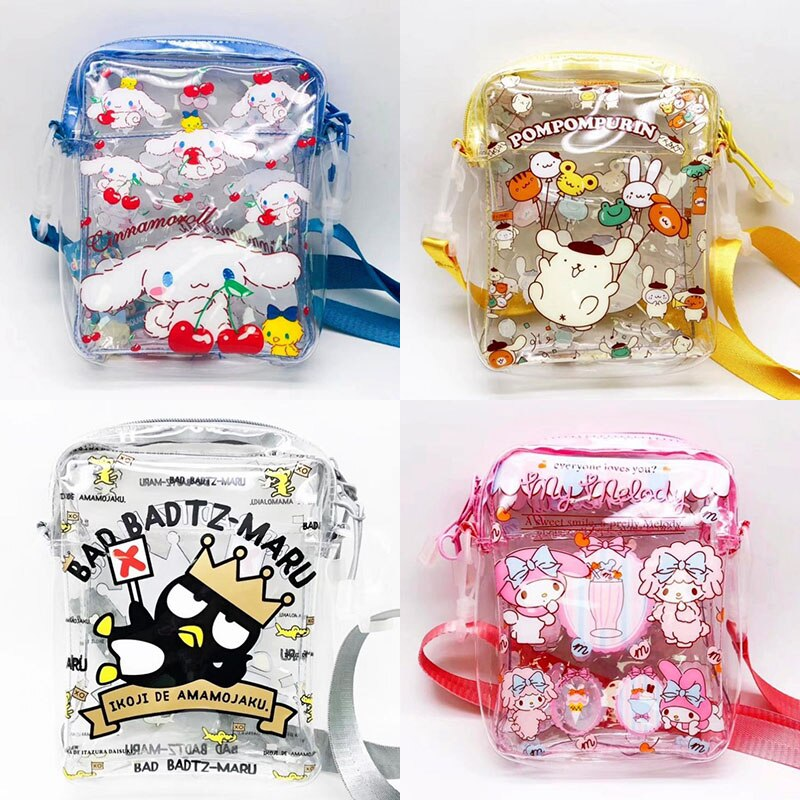 1 ud. Adorable caricatura Melody Sumikko transparente bolsa de maquillaje bolsa de cosméticos PVC Almacenamiento de maquillaje bolsa de aseo figura juguetes regalo