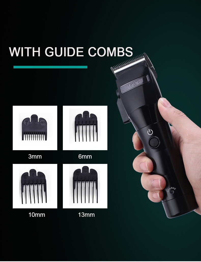 Men's Professional Hair Clipper Rechargeable Low Noise Silent Strong Power Hair Trimmer Fast Charging enlarge