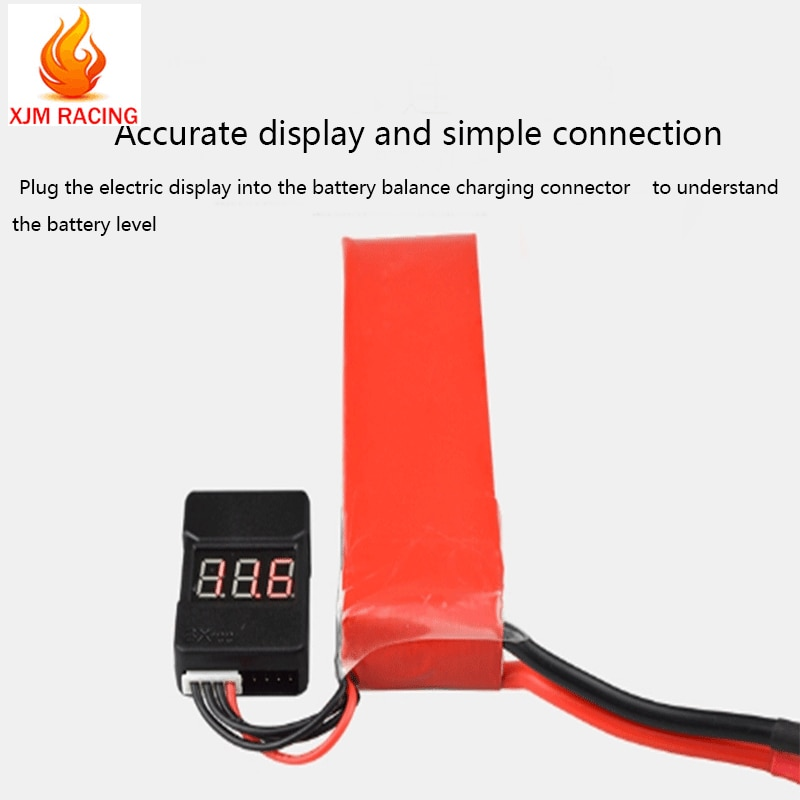 Battery tester tool fit 1-8s lithium battery voltage detection for 1/5 1/8 1/10 hpi baja losi Traxxas Trx4 Axial SCX10 D90 enlarge