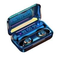 tws bluetooth 5 0 earphones smart digital display mini hifi headset stereo in ear waterproof sports wireless headphones with mic
