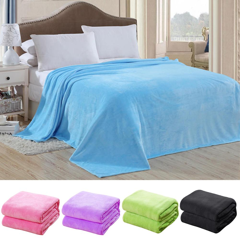 100*70cm confortável super macio quente sólido micro cobertor de pelúcia velo lance sofá cama acessórios para casa