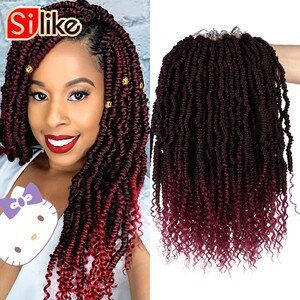 24 Roots/Pack Pre-looped Crochet Spring Twist Hair 12 inch Stretched Twists Braiding Hair Synthetic Hair For Braids