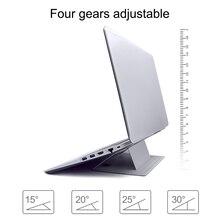 قابل للتعديل محمول حامل لوحة كمبيوتر محمول لاصق غير مرئية تقف للطي قوس المحمولة اللوحي حامل لباد ماك بوك أجهزة الكمبيوتر المحمولة