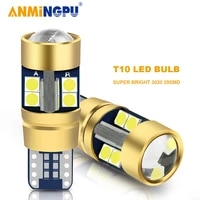 anmingpu 2x car led signal lamp t10 w5w 194 168 led bulbs 3030smd led canbus w5w clearance light reading lights interior lights