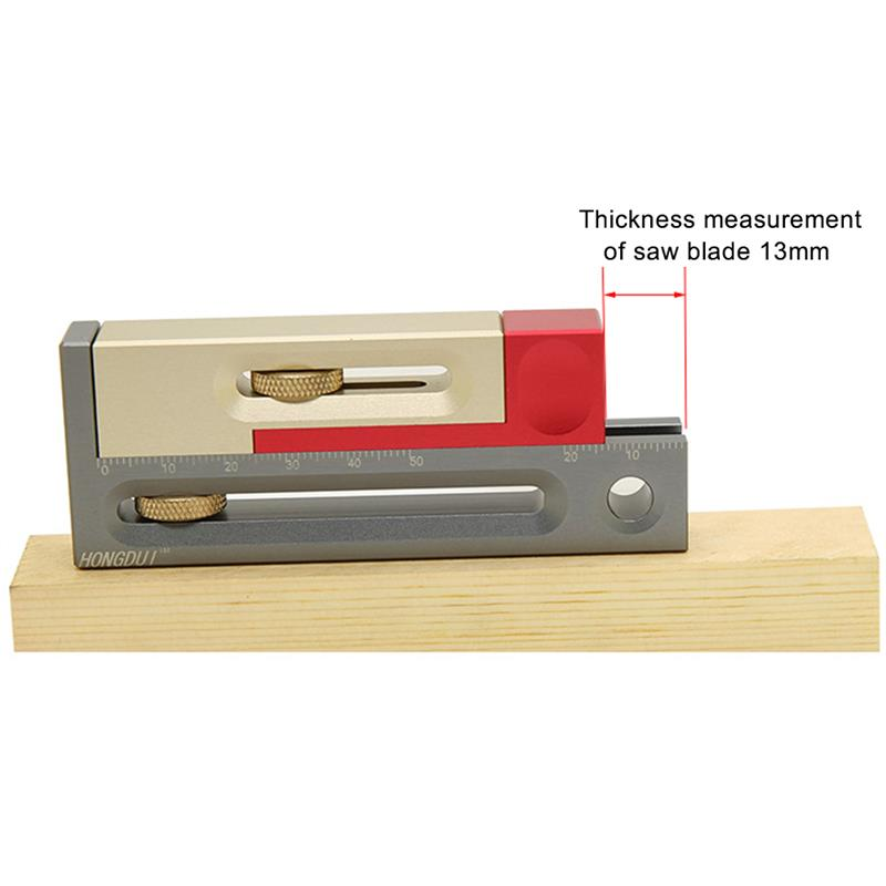 Ruler Woodworking Gap Gauge Multifunction Saw Table Slot Regulator Movable Measuring Block Length Compensation Tool enlarge