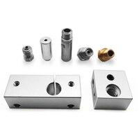 Полностью металлический комплект горячего торца MK10 с охлаждающим нагревом Blcok 0,4 мм Nozzel для 3D принтера Creator Pro, деталь для Wanhao i3 Dupicator D4/I3