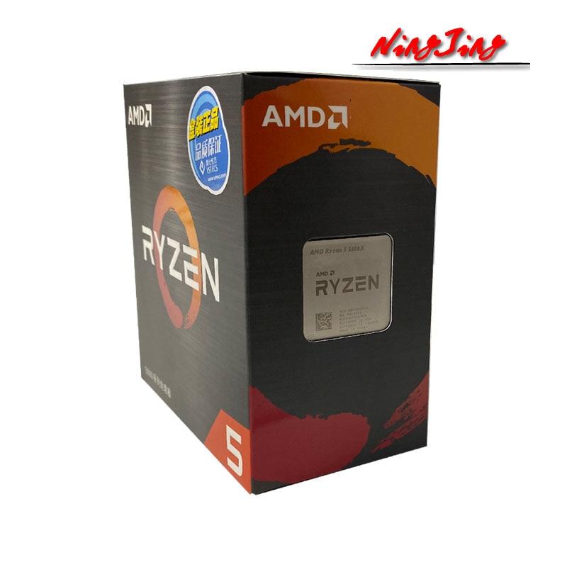 [해외] AMD Ryzen 5 5600X R5 5600X 3.7 GHz 6 코어 12 스레드 CPU 프로세서 7NM 65W L3 = 32M 100-000000065 소켓 AM4 신규 및 팬