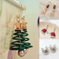 1pair christmas earring pendant for women girls xmas christmas gift ornaments drop earrings ornaments christmas decoration