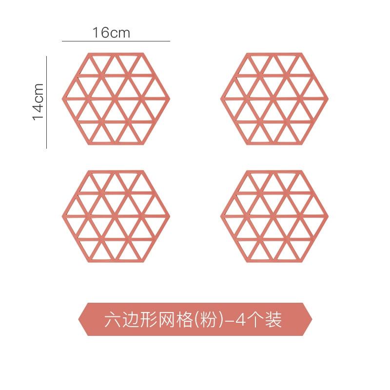 Hexagone nórdicos tapete de mesa de comedor de plástico pequeño mantel para taza resistente al calor cocina accesorios Mini paleta almohadilla bajo tazas KK60TM