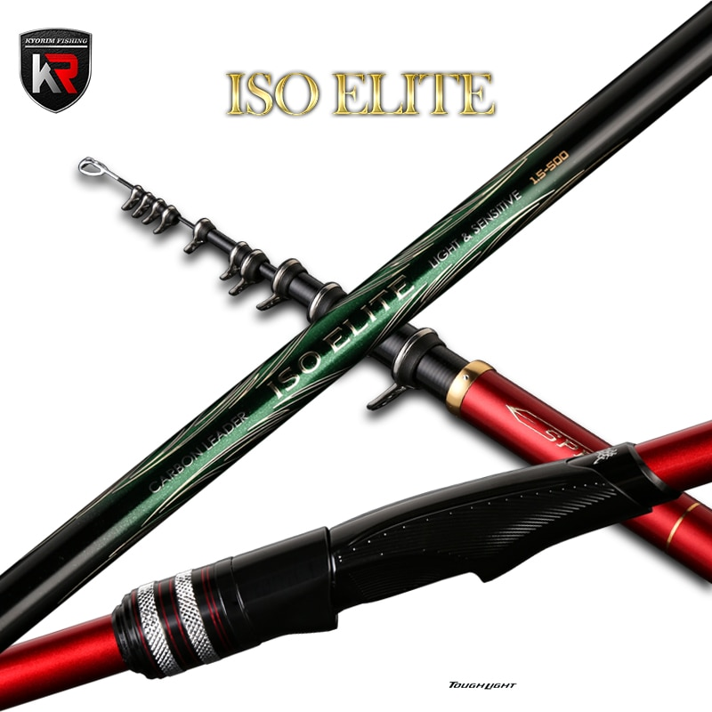Kyorim ISO ELITE ROCK FISHING ROD Ultra-thin GUIDES SIC-RING HIGH CARBON SUPER FLEXIBLE AND SENSITIVE TIP GUIDE LINE 4M/5M