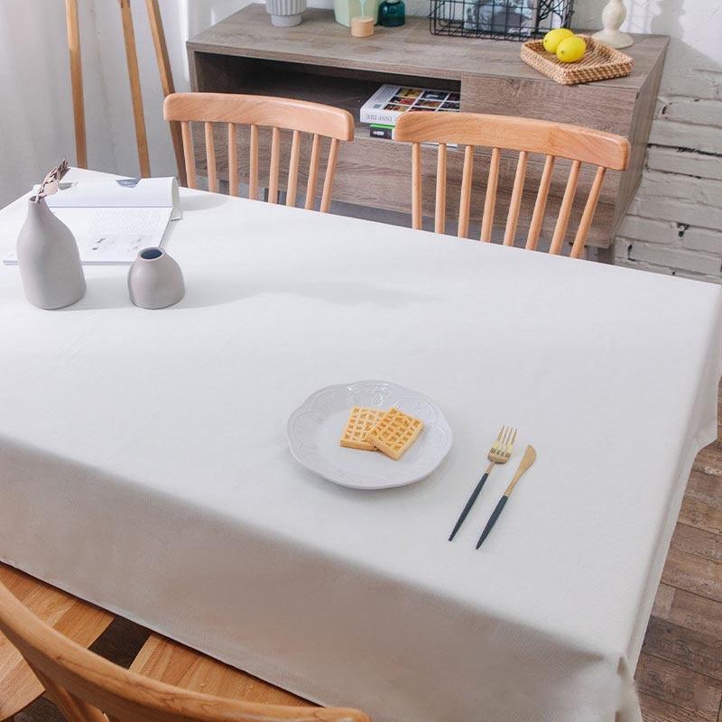 Mantel blanco para mesa de centro, cubierta de Color liso para sala...