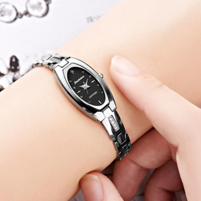 Relógio de Quartzo de Aço de Tungstênio de Moda Feminina à Prova Botão de Alta Dwaterproof Água Relógio Borboleta Qualidade 6531