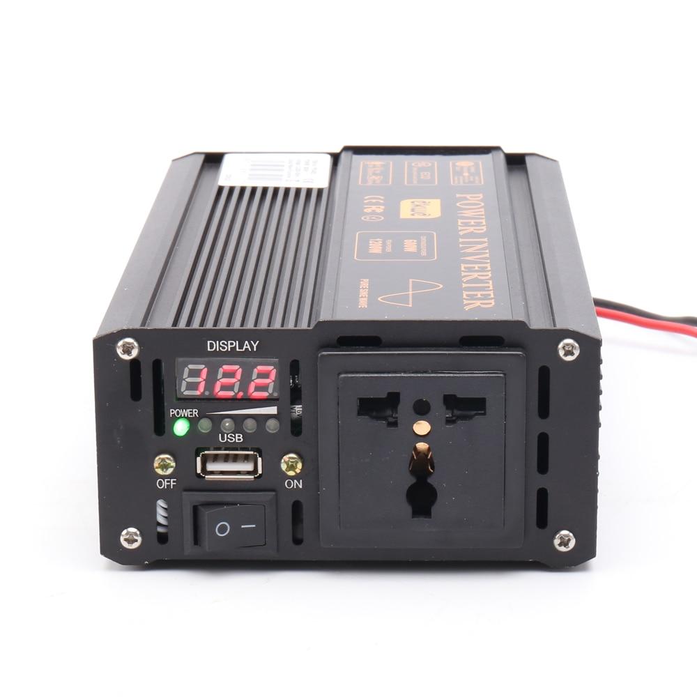 CE الموافقة أفضل الذروة 1200W استدامة كامل 600W العاكس النقي موجة جيبية 60hz الصرفة موجة جيبية الطاقة الشمسية العاكس 48V 220V مع LED