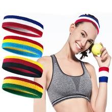 Coloridos deportes bandas para el cabello para Yoga mujeres hombres sudor Diademas Goma elástica transpirable Sweatbands fútbol Runing Yoga Accesorios