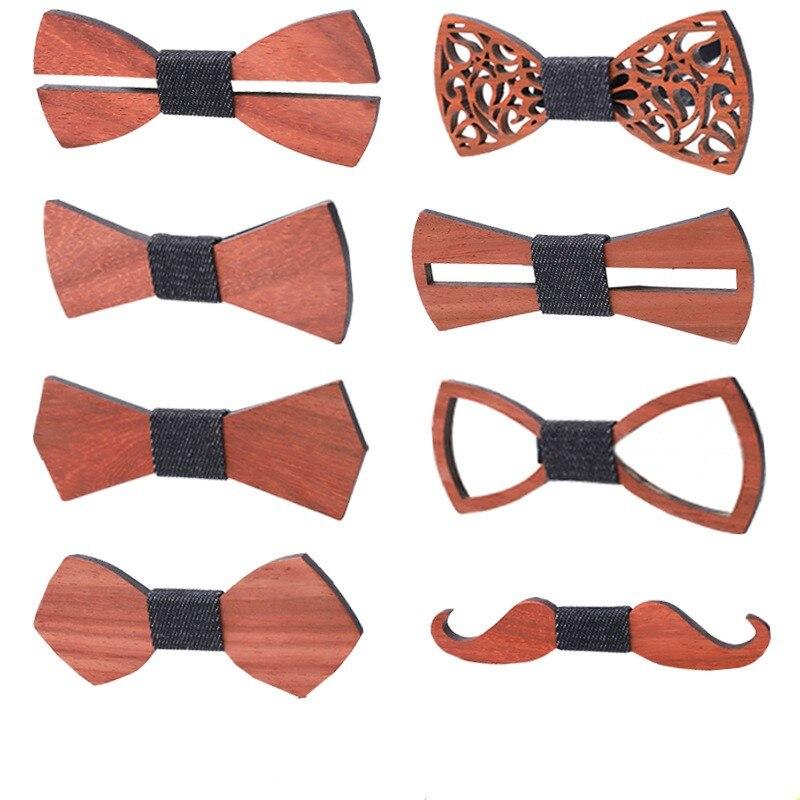 1 шт. нежная древесина мужской галстук-бабочка деревянные галстуки-бабочки вечерние Бизнес галстуки бабочки вечерние галстуки для мужчин, Д...