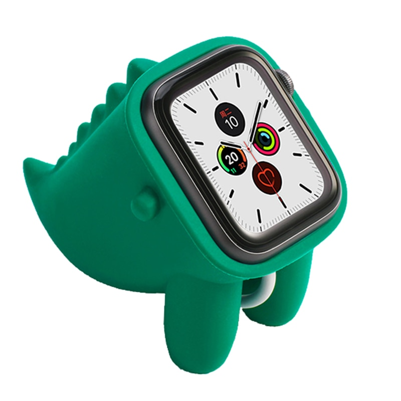 Для Apple Watch держатель милый динозавр Форма Силиконовый выразительный кронштейн Противоскользящий прочный держатель Горячая Распродажа