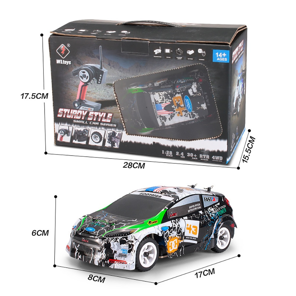 WLtoys K989 1/28 2.4G Racing RC Car 30KM/H 4WD Electric High Speed Off-Road Drift Remote Control Toys for Children enlarge