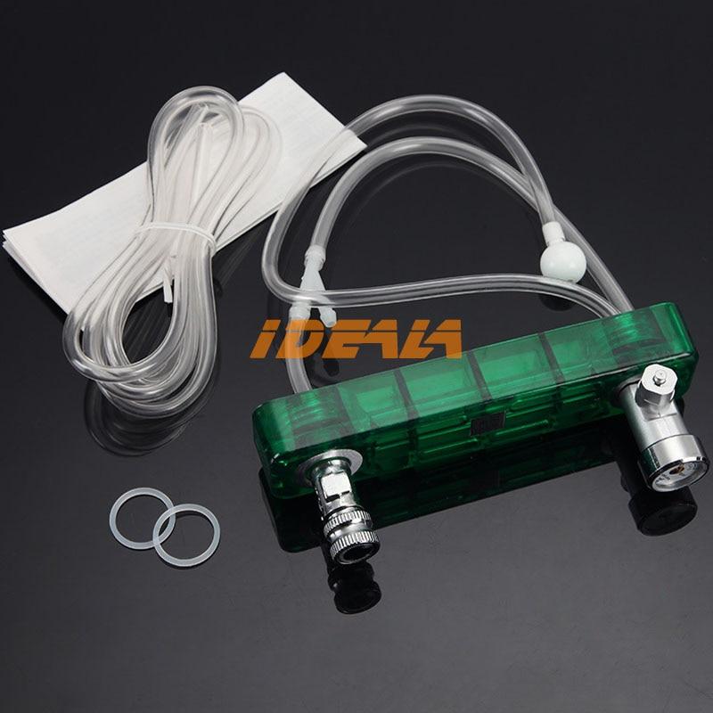 DIY CO2 Diffuser D501 Kit Planted Aquarium CO2 Diffuser Needle Valve Pressure Gauge Generator Ozone Equipment with Pressure Gaug
