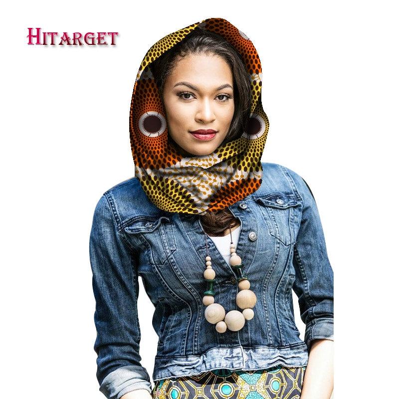 Hitarget, bufanda de cuello de diseño de estilo africano para otoño e invierno, bufanda de impresión de cera africana, pañuelo para la cabeza para mujeres, bufandas de algodón WYB66
