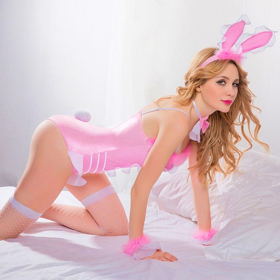 Hf2f1fd4596034b1080272d5f61de48900 JSY Porno de las mujeres conjunto de Bikini de lencería Sexy chica conejito uniforme Cosplay erótica caliente ropa de Catsuit por sexo Porno trajes