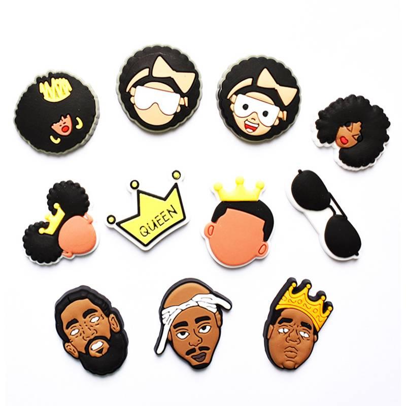 Queen Crown PVC Shoe Charms Shoe Accessories Shoe Decoration Shoe Buckles Accessories for Clogs Sand