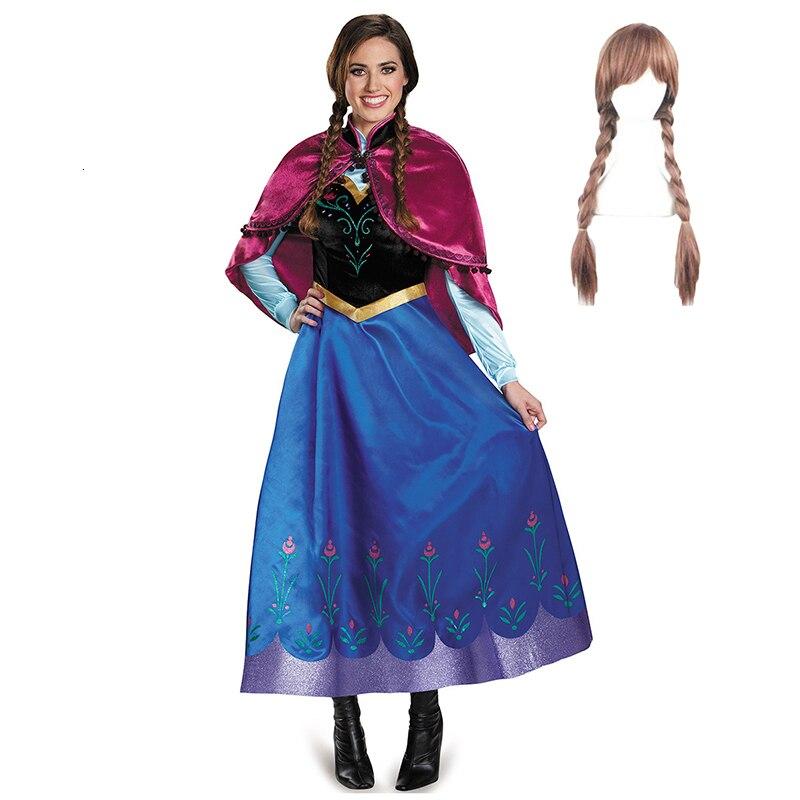 Vestido de Princesa Jasmine para Festa Vestido Cosplay Adulto Anna Elsa Aladdin