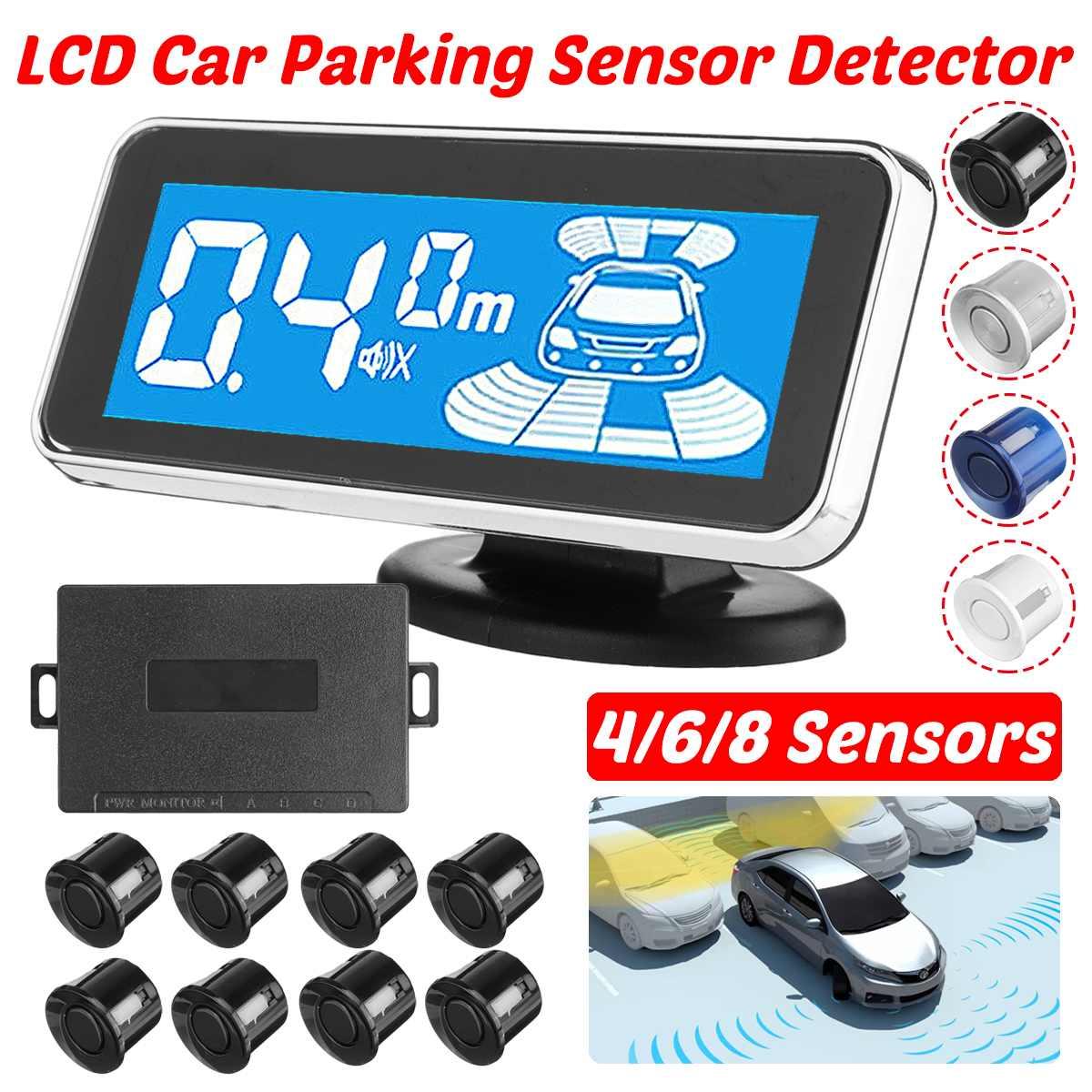 СВЕТОДИОДНЫЙ монитор электромагнитных парковочных Сенсор 8 Автомобильный парктроник передней камеры парковки Сенсор движения парковки По...