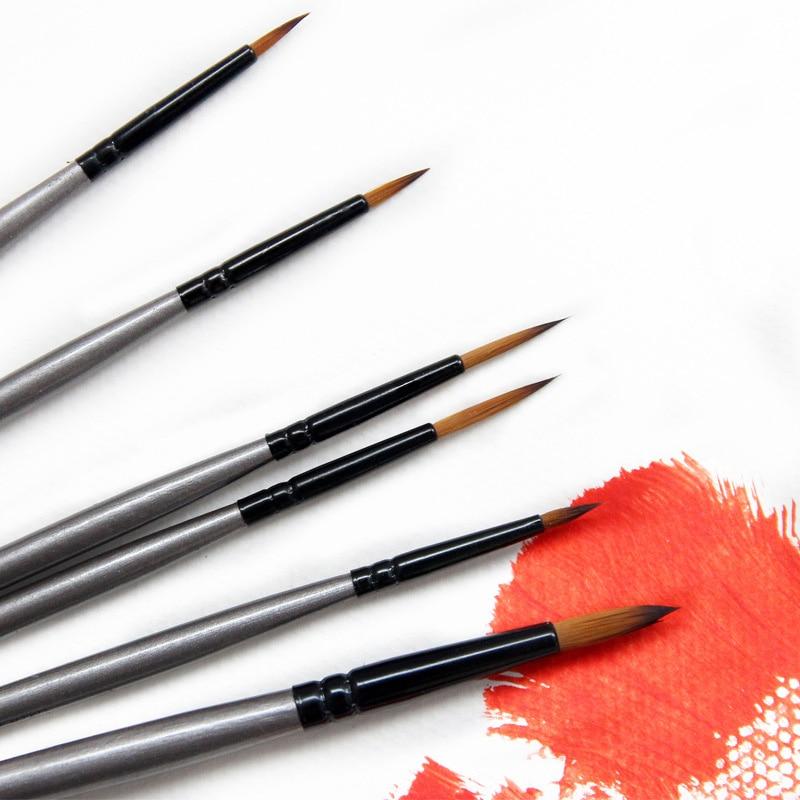 6 pçs arte marcador de náilon acessórios artísticos pintura suprimentos pintura a óleo multiuso canetas esboço caneta pincel