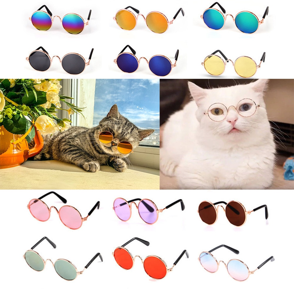 Lovely Pet Cat Glasses Dog Glasses Pet Products Cat Toy Dog Sunglasses Photos Props Pet Accessoires