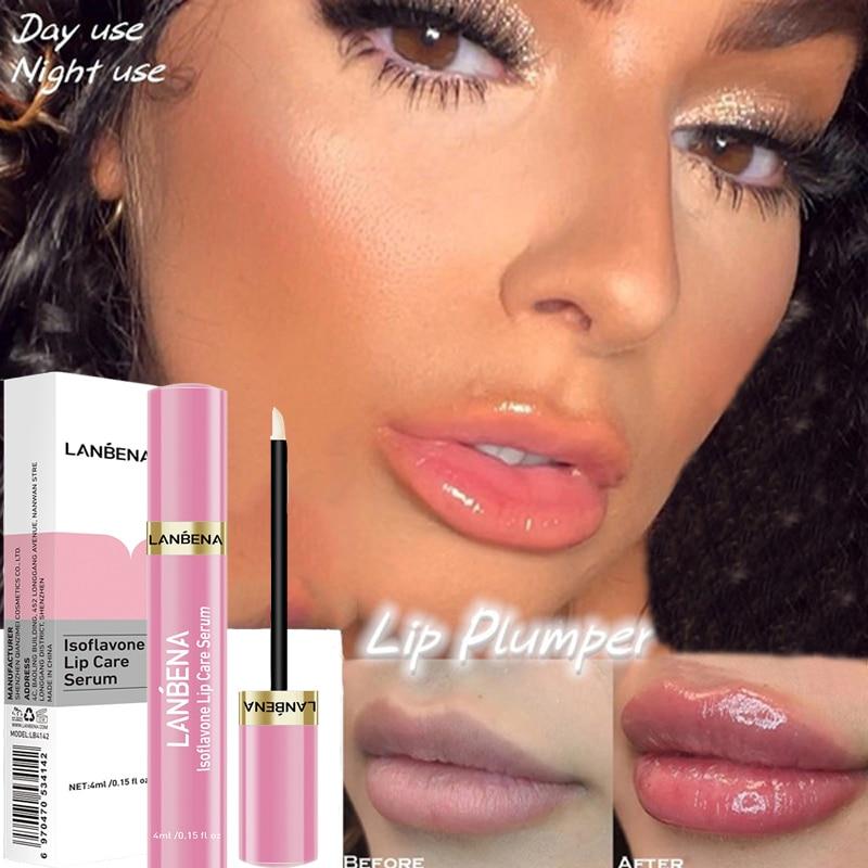 4ml Lip Plumper Lip Care Serum Instant Volumising Repairing Reduce Lip Mask Lines Lips Lip Increase Moisturizing Plumper Beauty недорого
