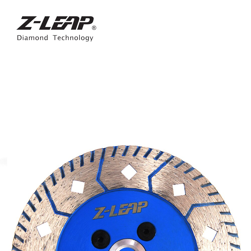 """Z-LEAP 1PC 5"""" Diamond Saw Blade Granite Marble Stone Grinding Cutting Disc With M14 Arbor 125mm Turbo Dual Side Grinding Wheels"""