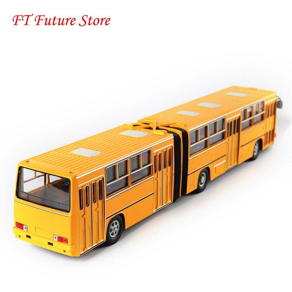En Stock 1/43 báscula rusa amarilla modelo de autobús de dos pisos IKarus-280 modelo de juguetes Diecast para niños regalos