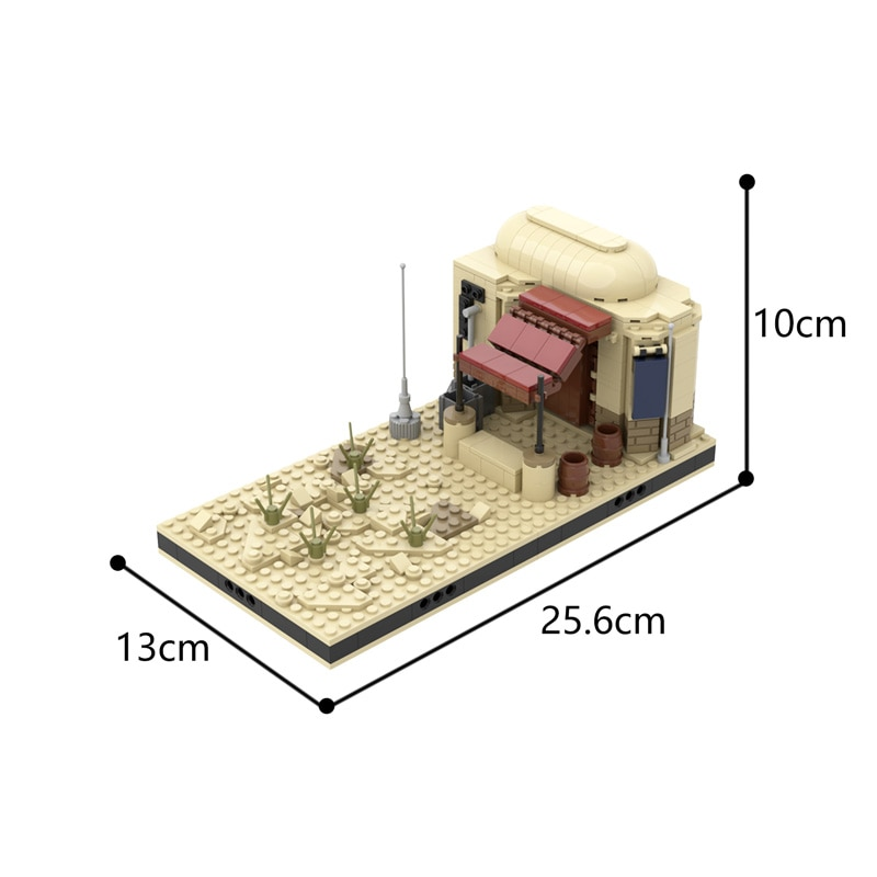 MOC Desert House Modular Tatooine Collection Street View Architecture Building Blocks Creative Model Toys For Children  - buy with discount