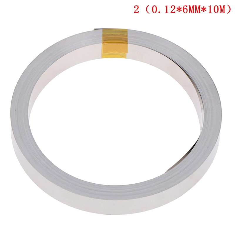 2m 0 2 10mm ni plate nickel strip tape for li 26650 battery spot welding the connecting piece of battery the battery pole ear 10M 6mmx0.12mm Ni Plate Nickel Strip Tape For Li 18650 26650 Battery Spot Welding new