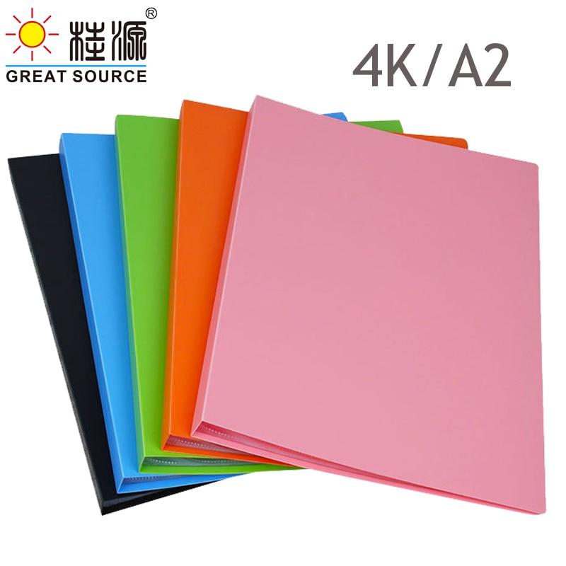 Книга для презентаций A2 с 20 прозрачными карманами, книга с 4 к дисплеем, Необычные конфетные цвета 425*22,56 мм (16,73