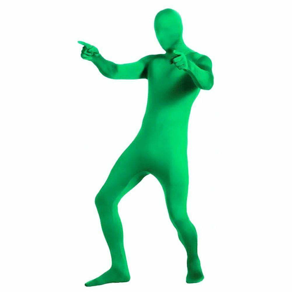 Skin Suit Photo Stretchy Body Green Screen Suit Video Suit Tight Key Effect Chroma Comfortable Accessory Invisible Photogra K9D2 enlarge