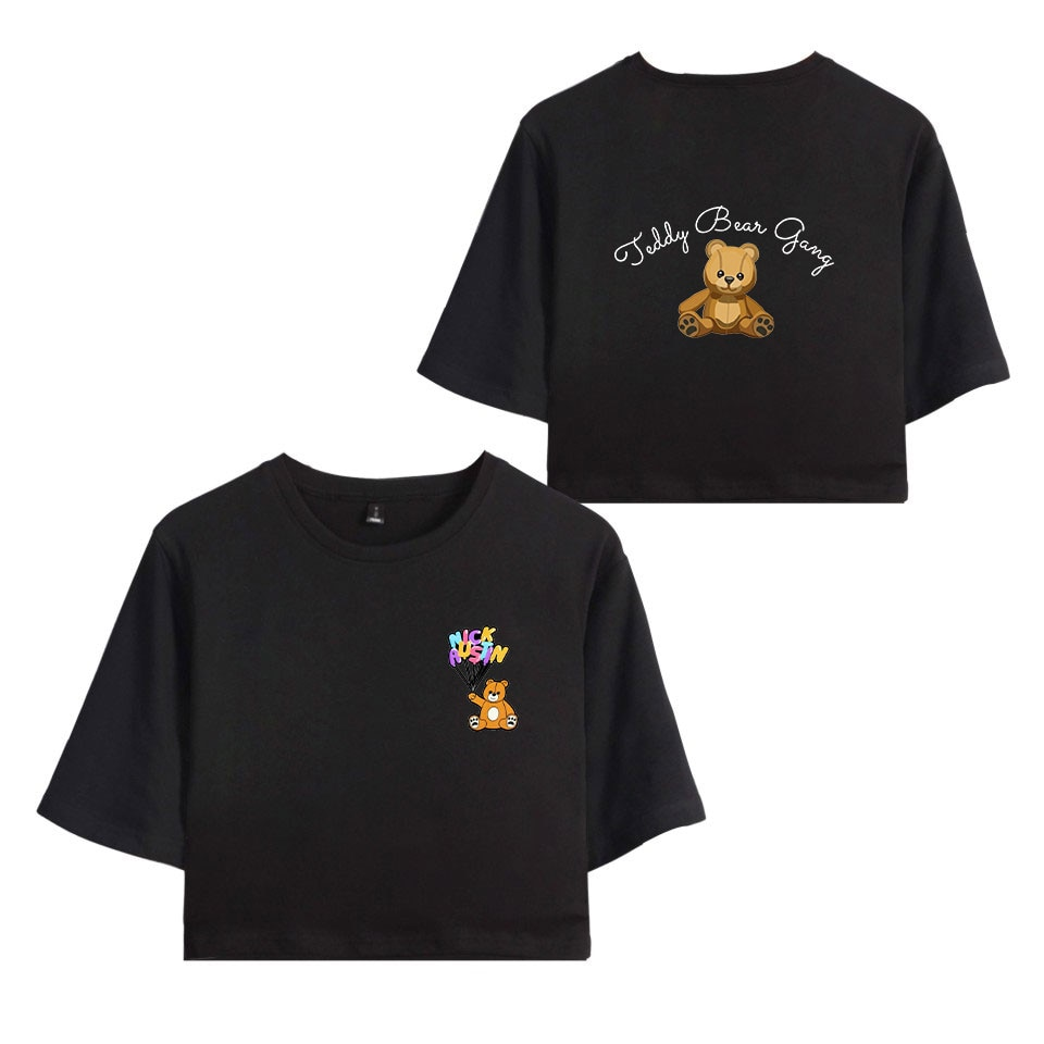 NICK AUSTIN PUFF oso de peluche camiseta mujeres Crop Tops verano manga corta Camisetas coreanas ins tide Streetwear Girls camisetas