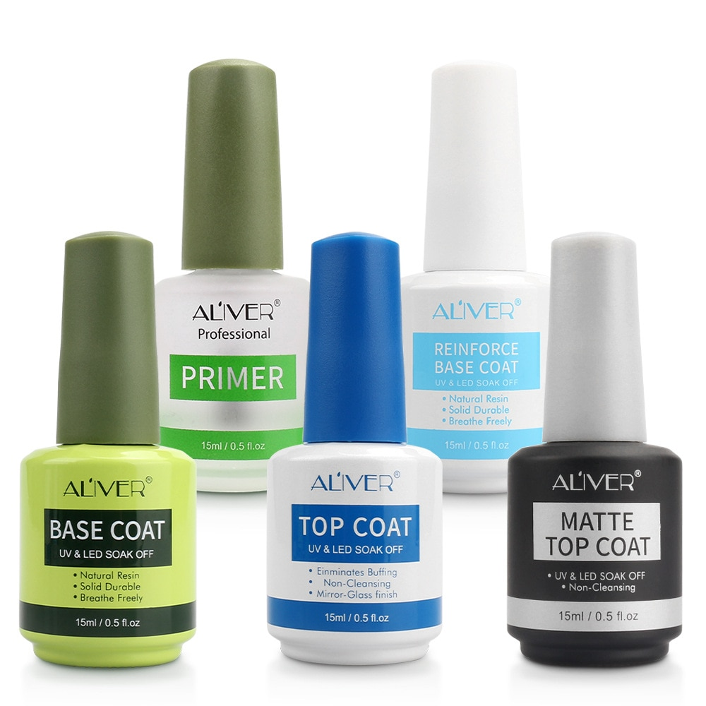 Aliver nail polish balanced liquid wash free seal removable primer reinforcement function rubber frosted seal package