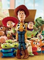 BRICOLAGE Carre Rond Diamant Brode Mosaique Disney Toy Story Plein Diamant Peinture Point De Croix Strass Decor A La Maison Cadeau