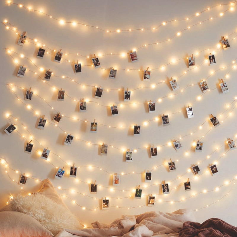 photo clips led string lights 1m 2m 5m 10m usb fairy garland lights battery powered light for christmas wedding party decoration 1M 2M 3M 5M 10M Photo Clip USB LED String Lights Holiday New Year Fairy Garland For Christmas Tree Wedding Party Decoration