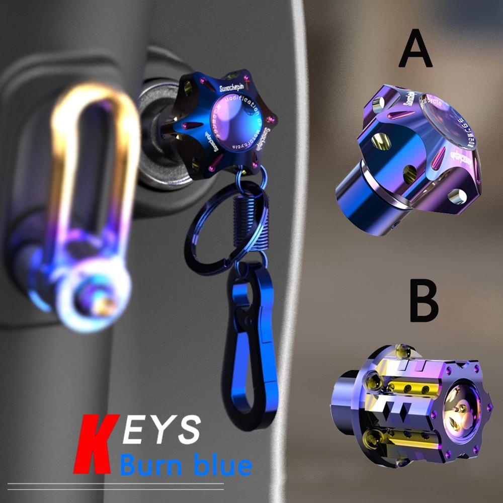 AliExpress - Universal Burn Blue DIY Motorcycle Auto Accessories Car Key Holder Key Cover Case Shell Car Key Chains Key Ring