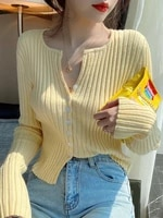 women t shirts v neck button up tees knit t shirts stripes elegant soft cotton long sleeve tees for autumn